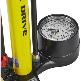 Lezyne Steel Floor Drive - Pompe à vélo - beige/jaune